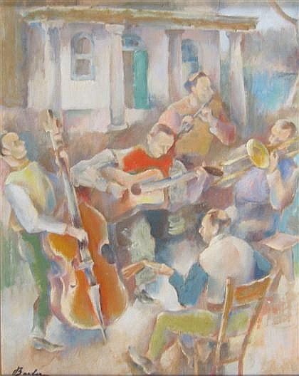 JOHN BARBER (AMERICAN 1898-1965) MUSICIANS