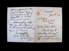(Autographs : American Civil War Notables) 4 Pieces: Everett, Edward. Autograph Letter Signed. Cambridge, April 26, 1847. 1 p., 12mo...