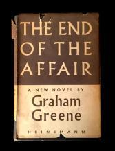 (Literature). Greene, Graham. The End of the Affair. London: William Heinemann, (1951). First edition. 1 vol. Small 8vo, original...