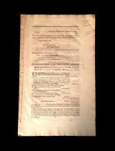 (Scranton Estate : Americana). (Hamilton, Alexander, as Secretary of the Treasury). Treasury Department, January 6, 1791. Sir I Have...