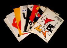 (Art : Modern : Periodicals). Derrière Le Miroir. (Paris: Maeght), (1963 - 1981.) Alexander Calder issues, nos. 141, 156, 173, 190,...