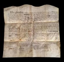 (Autographs : American Revolutionary Figures). 4 Pieces: Fish. Nicholas. Document Signed. New York, September 22, 1796. 1 p., 3 1/2...