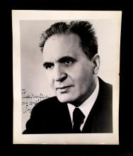 3 Pieces. (Autograph material). Primarily inscribed and signed photos. Classical Music Conductors: Barbirolli, John. Photo inscribed...