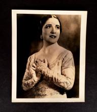 3 Pieces (Autograph material). Primarily photos inscribed and signed. Opera Singers - female. Giannini, Dusolina. Photo inscribed an...
