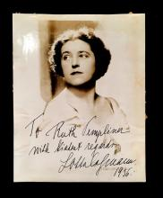 3 Pieces. (Autograph material). Photos inscribed and signed. Opera singers - female Wagnerians: Flagstad, Kirsten. Photo inscribed a...