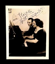 5 Pieces. (Autograph material). Primarily photographs inscribed and signed. Classical Pianists: Iturbi, Jose. Program signed. 1936....