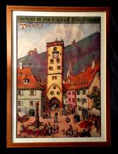 1 Piece. Color Lithographic Poster. Hansi (Waltz, Jean-Jacques).