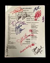 Lot. Type Scripts Signed - American Television Soap Operas: