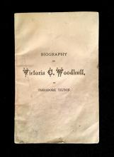 (Americana : Gender and Identity). Tillon, Theodore. Victoria C. Woodhull. A Biographical Sketch. New York: The Golden Age, 1871. Fi...