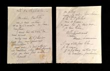 (Autographs : Artists, &c). 1 Piece. Autograph Letter Signed. Laurencin, Marie. No place, September 30, 19??. 2 p. (2 sheets) 16mo;...