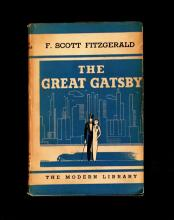 (Literature). Fitzgerald, F. Scott. The Great Gatsby. New York: Modern Library, (1934). First Modern Library edition. 1 vol....