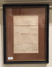 (Autographs : American). (Key, Francis Scott - recipient.) Maxcy, V(irgil.) Letter Signed. Washington: Office of the Solicitor of th...