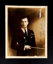3 Pieces. (Autograph material). Photos inscribed and signed. Classical Violinists: Kreisler, Fritz. Photo inscribed and signed. Silv...