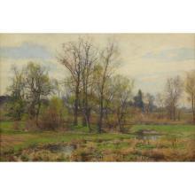 """HUGH BOLTON JONES, (AMERICAN 1848–1927), """"NEAR STOCKBRIDGE"""""""