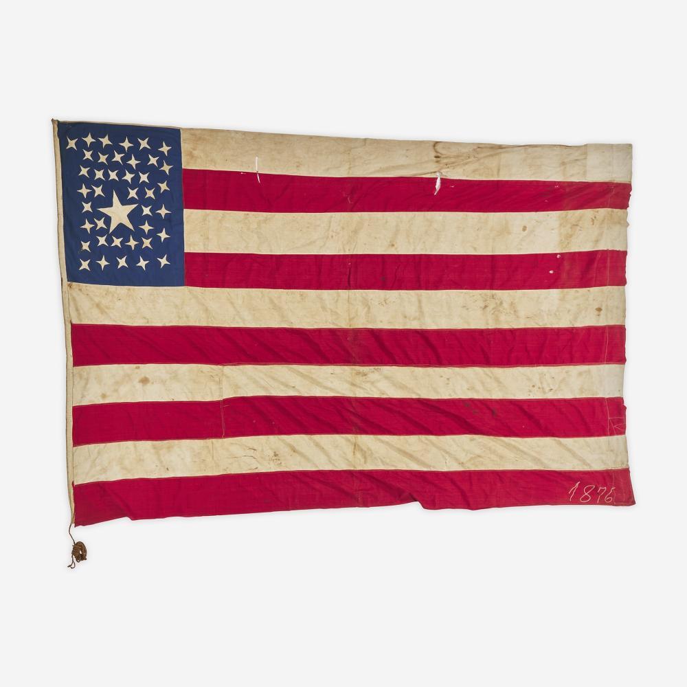 A rare 39/40-Star American National Flag commemorating North and South Dakota statehood circa 1889