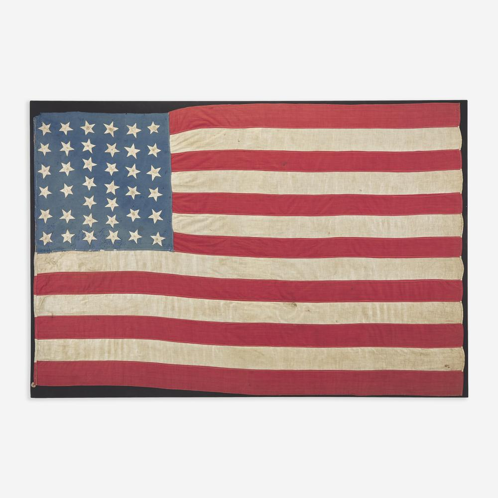 A 38-Star National American Flag commemorating Colorado statehood 1876-1889
