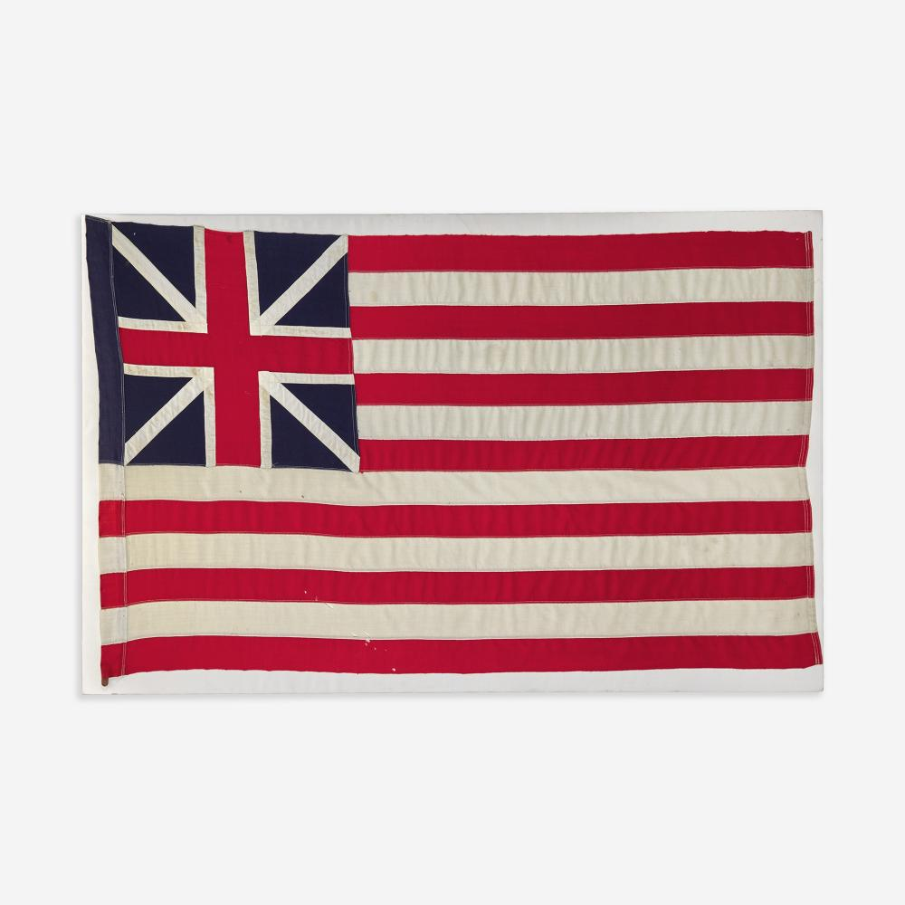 An American Grand Union Flag or Continental Colors late 19th/ early 20th century
