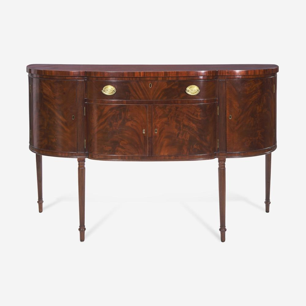A Federal carved mahogany sideboard Attributed to Henry Connelly (1770-1826), Philadelphia, PA, circa 1805