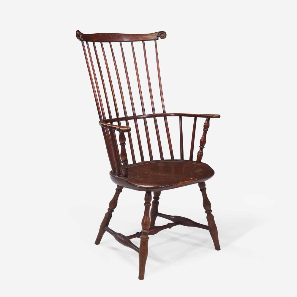 A comb-back Windsor armchair Samuel J. Tucke (active 1790-1805), Boston, MA, circa 1790