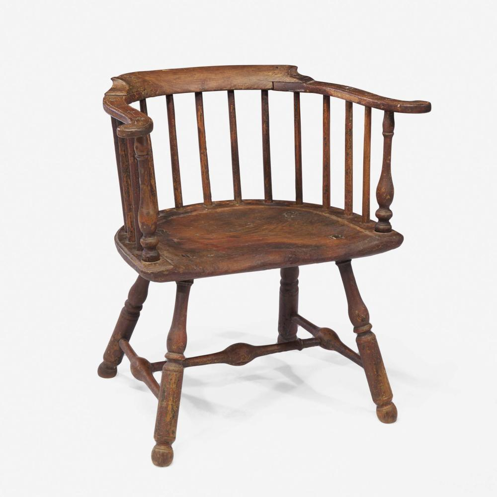 A low back Windsor arm chair Philadelphia, PA, late 18th century