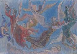 FRANKLIN CHENAULT WATKINS (American 1894-1972) 'HARK THE HERALD'