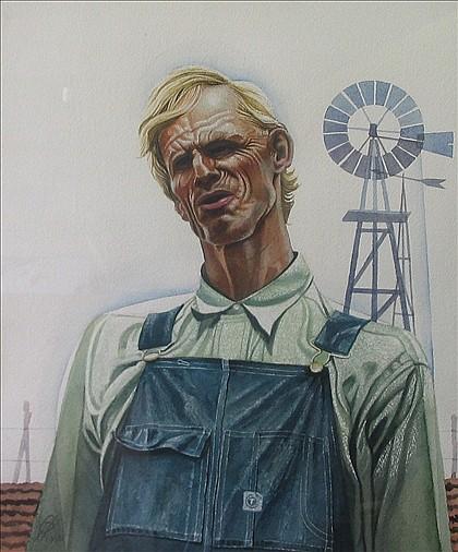 COLUMBUS KNOX, (AMERICAN 20TH CENTURY), THE FARMER