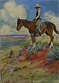 WILLIAM ELLING GOLLINGS (American 1878-1932) TALL IN THE SADDLE, Bill Gollings, Click for value