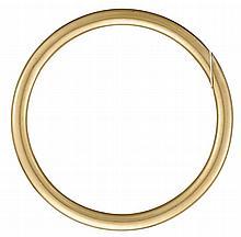 A fourteen karat gold bangle, , Polished gold.