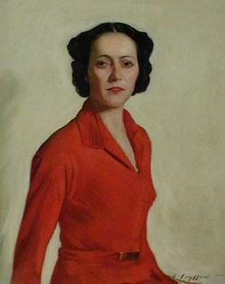 LEOPOLD (GOULD) SEYFFERT (American 1887-1956) THE RED DRESS