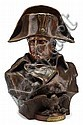 Renzo Colombo (Italian, 1856-1885), napoleon, Bronze bust, modeled to show Napoleon bearing a stern and determined expression, wearing, Lorenzo Colombo, Click for value