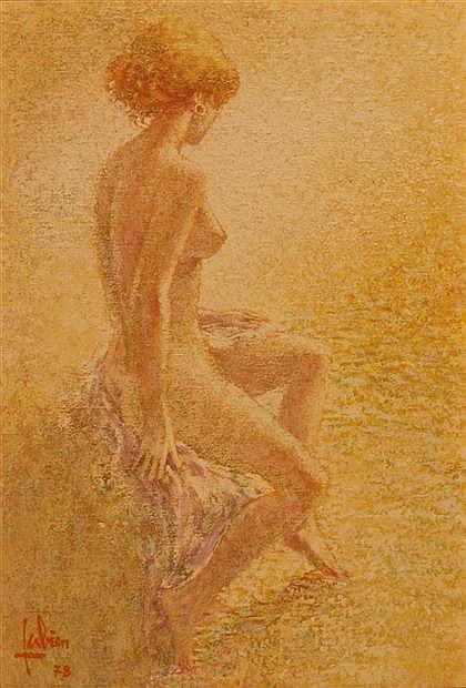 LOUIS FABIAN, (AMERICAN 20TH CENTURY), NUDE
