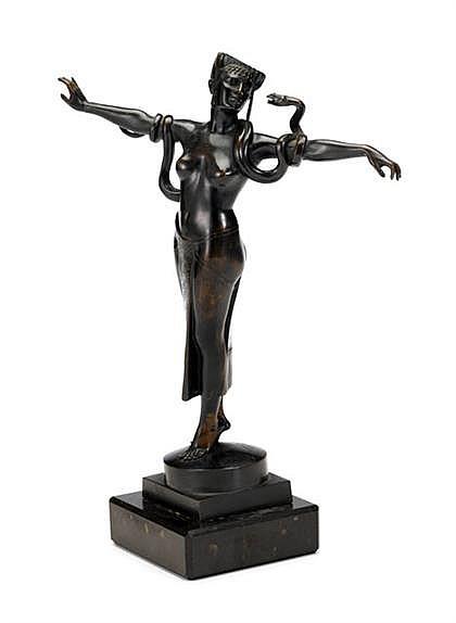 Arthur Bock (German 1875-1957) snake dancer