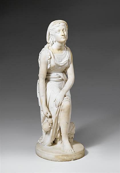 John Warrington Wood - Naaman's Maid Marble