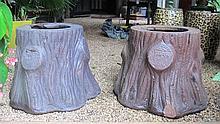 Pair of Portland Stoneware