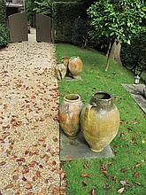 Five terracotta amphora, northern european,