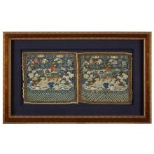 A pair of Chinese kesi tapestry first military rank ''kylin'' badges, xianfeng period, circa 1850