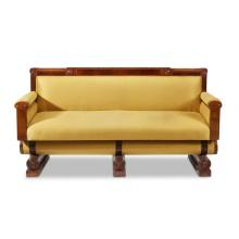 A Scandinavian Biedermeier Revival inlaid mahogany sofa, possibly Danish, circa 1900