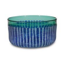 "Christopher Williams (British, b. 1949), ""Rough Cut"" glass bowl, circa 2000"
