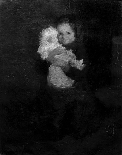 GEORGE LUKS, (AMERICAN 1867-1933), YOUNG GIRL WITH DOLL