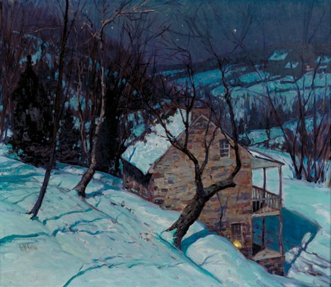 GEORGE WILLIAM SOTTER, (AMERICAN 1899-1953), A WINTERS EVENING