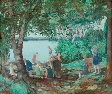 EVERETT LLOYD BRYANT, (AMERICAN 1864 - 1945), THE BATHERS