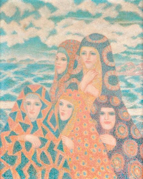 JULIUS BLOCH, (AMERICAN 1888-1966), NEAR EAST LADIES BY THE SEA