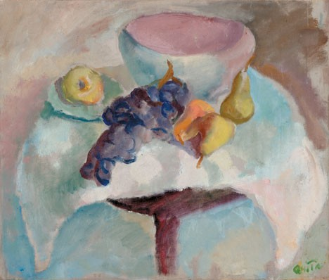 QUITA BRODHEAD, (AMERICAN 1901-2002), FRUIT ON A PEDESTAL
