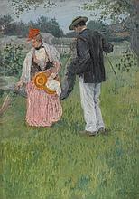 AUGUST FRANZEN, (AMERICAN 1863-1938), THE RENDEZ-VOUS