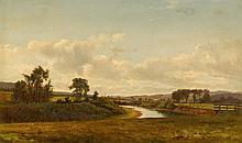 DAVID JOHNSON, (AMERICAN 1827-1908), LANCASTER NEW HAMPSHIRE FARMLAND