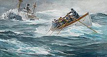 ANTON OTTO FISCHER, (AMERICAN/GERMAN 1882-1962), A RESCUE AT SEA