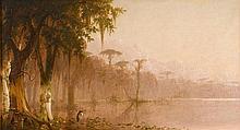 JOSEPH RUSLING MEEKER, (AMERICAN 1827-1889), HERON ON THE BAYOU