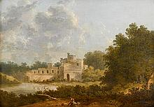 THOMAS DOUGHTY, (AMERICAN 1793-1856), LANDSCAPE WITH CASTLE