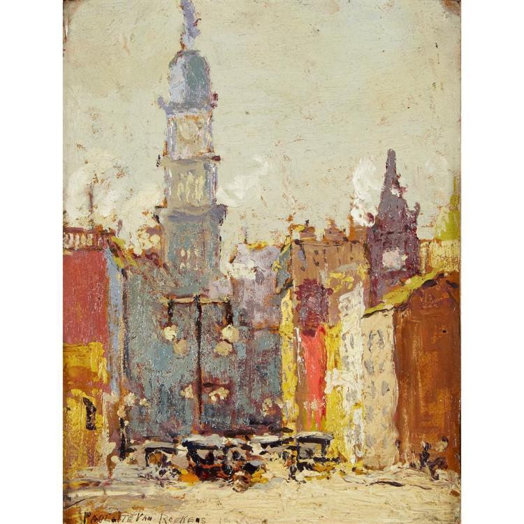 PAULETTE VAN ROEKENS, (AMERICAN 1896-1988), PHILADELPHIA CITY HALL