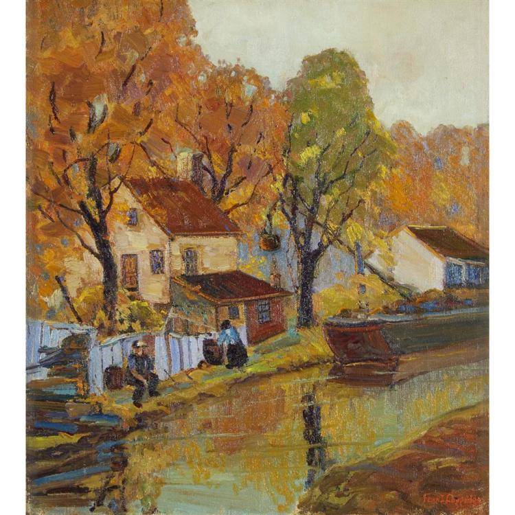 FERN ISABEL COPPEDGE, (AMERICAN 1883-1951), AUTUMN ALONG THE CANAL